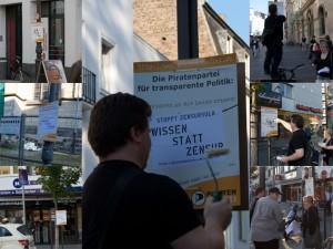 Piraten-Plakatieren-Bonn